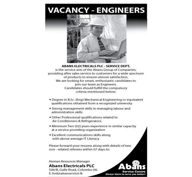 Skilled Technicians(Air Condition & Refregirator)-Sinhala