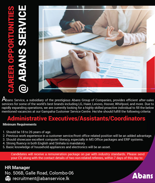 Administrative Executives / Assistants / Coordinators